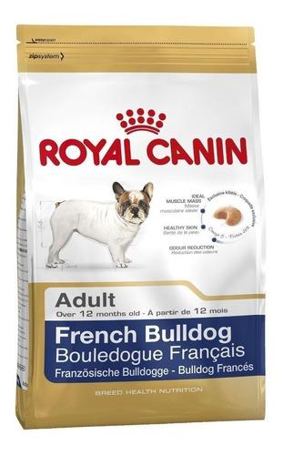 Ração Royal Canin Bulldog Francés Breed Health Nutrition Cachorro Adulto Raça Pequena Mix 7.5kg