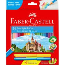 Lápis De Cor 24 Cores Grande Faber Castell - Pct. 06