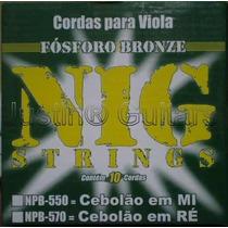 Cordas Nig Para Viola Caipira - Npb550 (cebolão Em Mi)