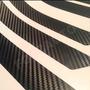 Adesivo Kit Soleira Preto Fosco Fibra Carbono Aço Escovado