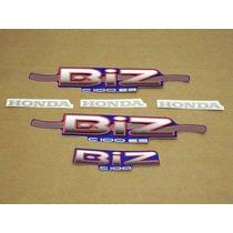 Kit Adesivos Honda Biz 100 2001 Es 2002 Azul