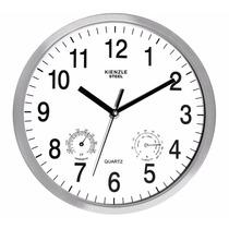 Relógio Parede Aço Novo 25 Cm Termômetro Higrômetro Kienzle