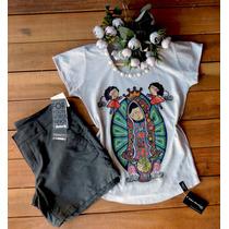 Camiseta Blusa Feminina T-shirt Nossa Senhora Religiosa