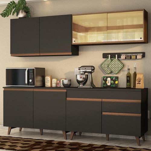 Cozinha Completa Madesa Reims 240001 Com Armário E Balcão
