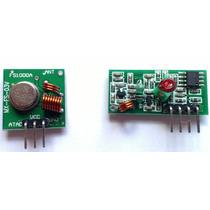 Modulo Rf Transmissor + Receptor 315mhz P/ Arduino