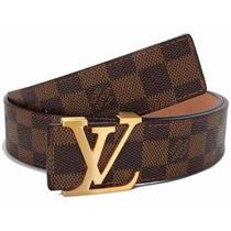 Cinto Louis Vuitton Masculino Xadrez Importado+frete Grátis