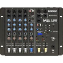Mesa Mixes 6 Canais Usb Bivolt Controle Ciclotron Mxs6sd