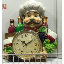Relógio De Parede Cozinha Gourmet Coleção Cozinheiro