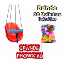 Balanço Baby Colorido Infantil Bebe Gangorra + Super Brind