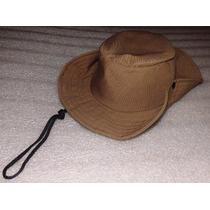 Chapéu Safari Nomura,brim Cáqui Infantil Circunferência 49cm