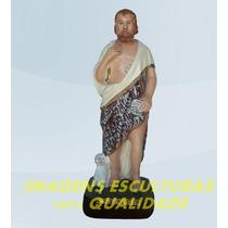 Escultura São João Batista Linda Imagem 60cm Promoção No Ml