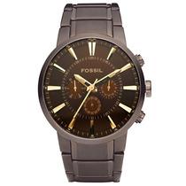 Relógio Masculino Fossil Marrom Ffs4357/z Cronografo