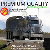 Lona Premium Caminhão Anti-chamas Pvc Emborrachado 13,5x4 M