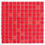 Pastilha De Vidro Cristal Vermelho 01 Placa
