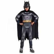 Fantasia Batman Premium Dc Infantil Capa E Mascara Morcego