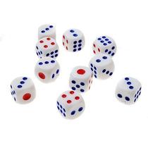 Dado  Branco 6 Lados Dados Jogo Game Carta Sorte Sorteio