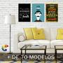 Placas Decorativas Frases Quadro Engraçadas Movitacão 30x40