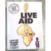 Live Aid - Box 4 Dvds - Importado, Nunca Aberto, Raridade!!