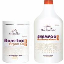 Botox New Liss Hair + Shampoo Oleo De Argan Banho De Perola