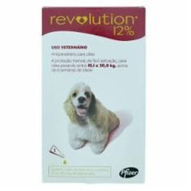 Anti Pulgas Revolution Para Cães 10,1kg A 20kg 3 Pipetas