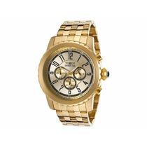 Relógio Invicta Specialty 19465 Banhado Á Ouro 18k