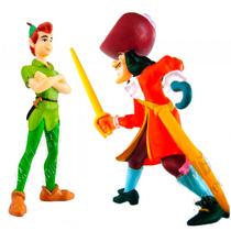 Miniaturas Do Peter Pan E Capitão Gancho Disney - Start.