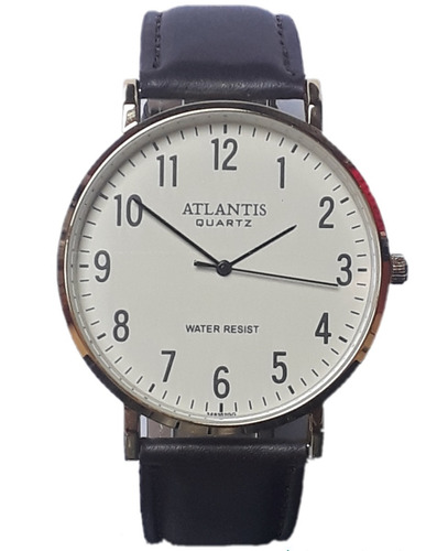6fab8ae7f01 Relógio Masculino Social Atlantis Pulseira De Couro G3493e