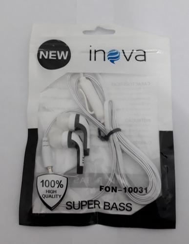 Fone De Ouvido Inova Super Bass Original + Microfone 38696e486fc