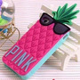 Capa Case Capinha Iphone 6 Abacaxi Pink + Pelicula Vidro