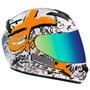 Capacete Moto Texx Bravo Web Laranja Tam 56