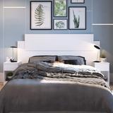 Cabeceira Casal Com 2 Criados Mudos Dormitórios Dc