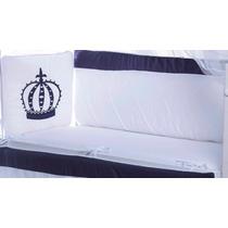 Kit Protetor Para Mini-berço 7 Peças - 100% Algodão
