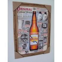 Quadros Decorativos 34x46 Com Moldura, Cerveja Original,