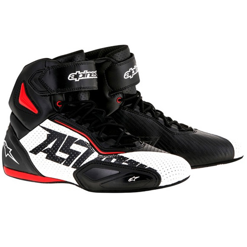 Tênis Alpinestars Faster Vented Vent 2 Pto / bco / ver 41 / 42 Rs1