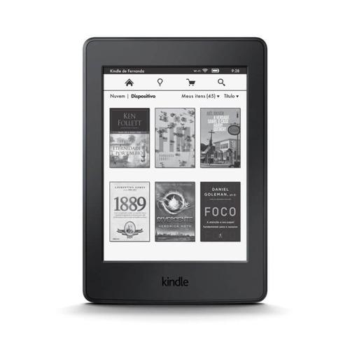 E - reader Amazon Kindle Paperwhite Preto Com Tela De 6 Wi - fi