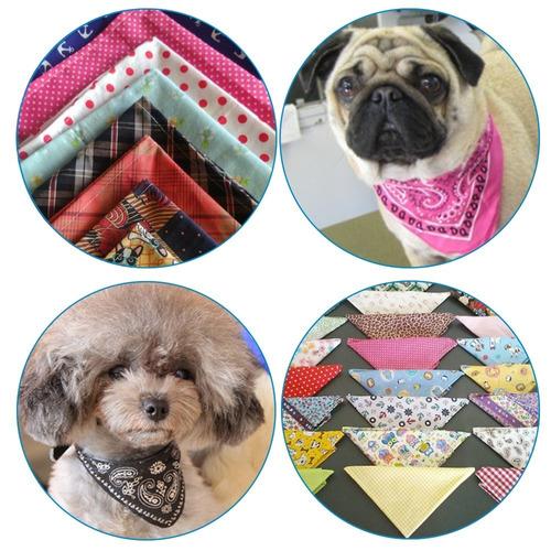 10 Lenços Bandanas P/ Pet Shop Filhotes E Pequeno Porte - M