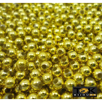 Atacado - Pérola Plástica 3mm - Dourado