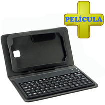 Kit Capa Teclado Bluetooth Samsung Tab3 7 T210 + Película