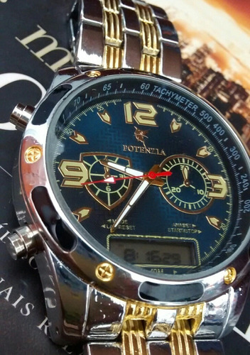 5df3dc1c031 Relógio Potenzia Ponteiro Digital Resist Kit C  3 Relógios