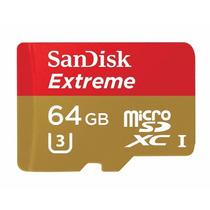 Cartão Micro Sd Sdxc Sandisk Extreme 64gb Cl10 90mb/s Uhs-3