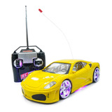 Carrinho Controle Remoto Carro Ferrari Leds Rodas Farol Neon