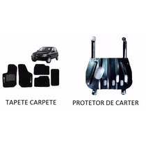 Kit Protetor De Carter Até 2012 + Tapete Carpete Celta Preto