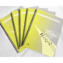Caderno De Musica Grande 96 Folhas Universitário 5 Unidades