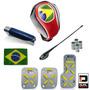 Super Kit Copa Do Mundo Interior Automotivo Vermelho E Preto