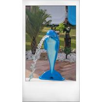 Chafariz Golfinho Grande Com Pintura Artistica