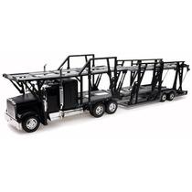 Caminhão Cegonha Freightliner Classic Xl 1:32 New Ray Preto