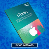 Itunes Gift Card $10 Dólares Usa - Ipod/iphone/ipad/imac