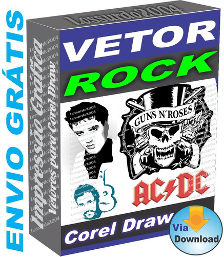 Pack De Vetores De Bandas De Rock Estampas Vetor Corel Draw 8a45c7e5d3e5c