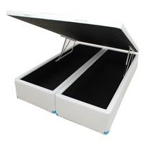 Cama Box Baú Bipartido Casal 188x138x042 Direto Da Fabrica