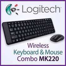 Combo Teclado E Mouse Wireless Mk220 Logitech Sem Fio Abnt2